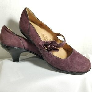 Sofft Mary Jane Purple Leather Pumps Womens 7.5